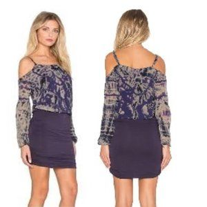 Gypsy 05 Bamboo Cold Shoulder Mini Dress NWT